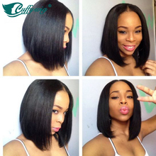 150 Density 12inch Full Lace Bob Cut Wig With Middle Part Summer Long Bob Front Short
