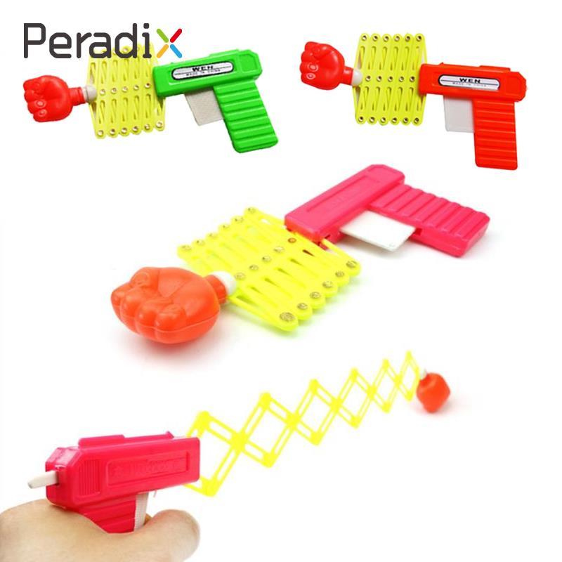 Children Funny Joke Tricky Toy Safe Plastic Flexible Retractable Fist Shooter