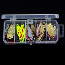 10pcs/lot Fishing Bionic Metal Vib Baits Lure Bass Rattle Crankbait Swimbait Fish Tackle Treble Hook Saltwater Freshwater Box