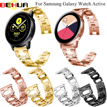 20mm Strap for Samsung galaxy Watch Active /galaxy Watch 42mm/Gear S2 Band Stainless Steel replacement Crystal Women wristband 20mm strap for samsung galaxy watch active galaxy watch 42mm gear s2 band stainless steel replacement crystal women wristband