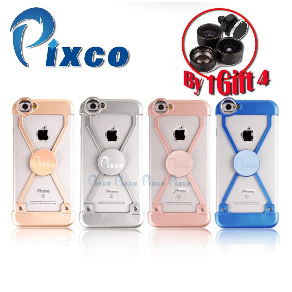 Pixco camera lens Kit iP.hone case Selfie Stick wide angle lens+Fisheye+ Macro Lens Handheld Stable iP.hone Remote Shut For I6s