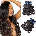 Onda Do Corpo brasileiro 3 Pacotes Molhado E Ondulado Humano Brasileiro Feixes de cabelo Weave Brasileiro Virgem Do Cabelo da Onda Do Corpo Do Cabelo Humano feixes