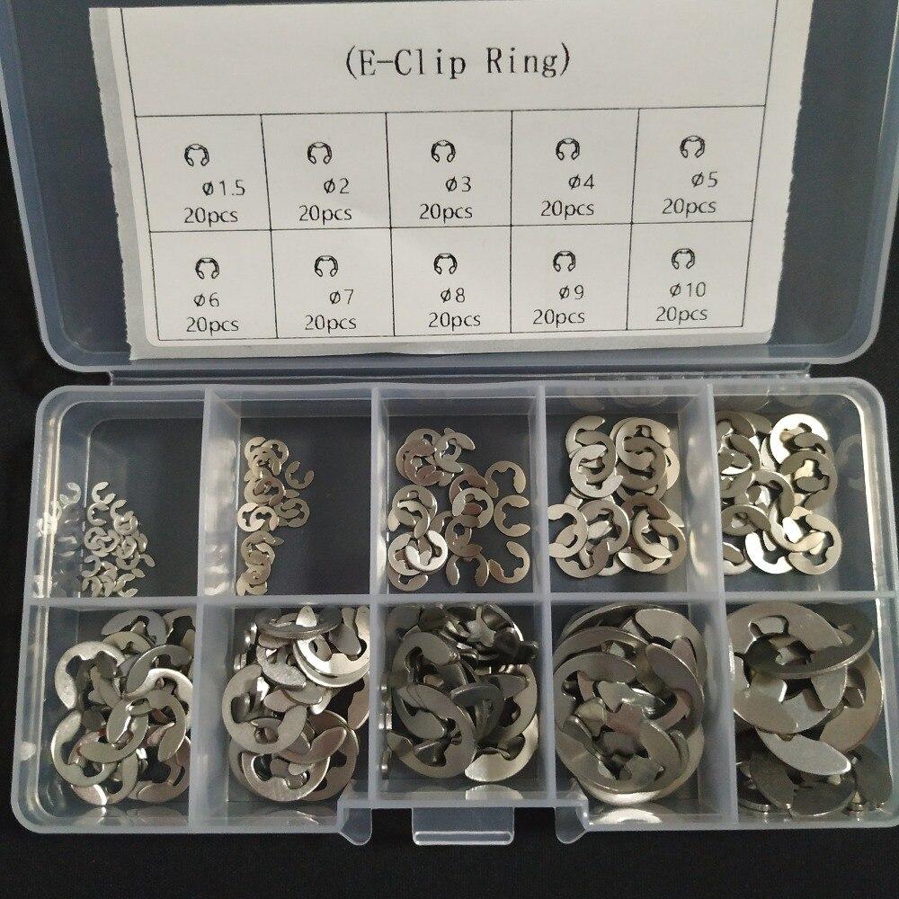 Набор Шайб из нержавеющей стали 200 шт., комплект шайб в ассортименте, 1,5, 2, 3, 4, 5, 6, 7, 8, 9, 10 мм стопорное кольцо для крепления вала|washer kit|washer dryersteel | АлиЭкспресс