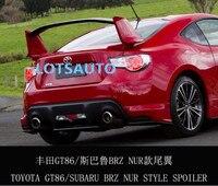 13 auf GT86 BRZ Nur spec Stil Spoiler Für Toyota 86 Stamm Spoiler (UNPAITED FARBE)-in Spoiler & Flügel aus Kraftfahrzeuge und Motorräder bei