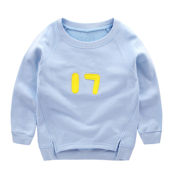 Fashion Letter Print Boy Cotton Pullover Tops 2T-8T Autumn Tiny Boy Clothes Long-Sleeve Sports T-shirts Kids Sweatshirt Clothes