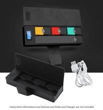 Чехол для путешествий JUUL Chargeing портативный блок питания Pod держатель зарядное устройство совместимо с JUUL с ЖК-дисплеем Indicadorin, устройство не входит в комплект