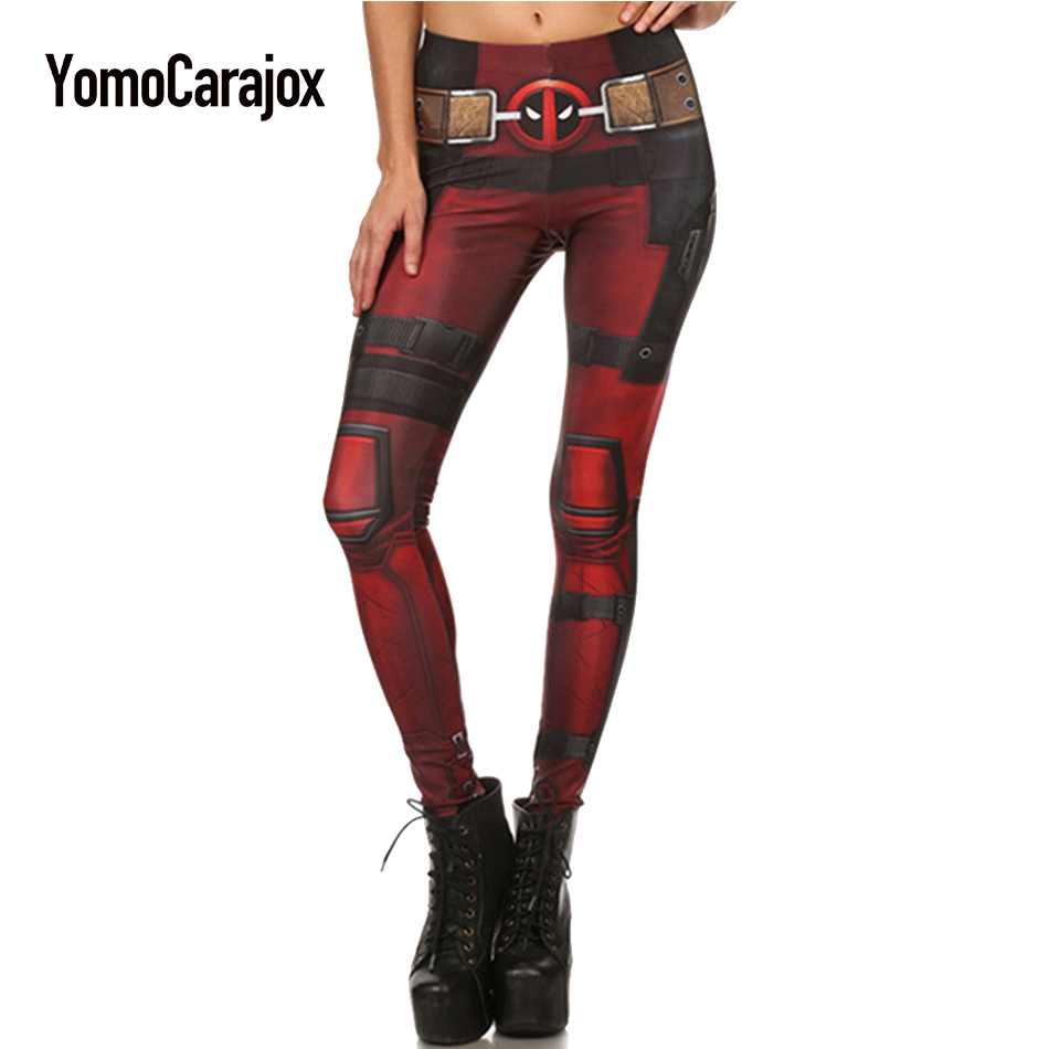 2017 New Fashion Sexy Slim Women leggings Super HERO Deadpool Leggins Printed legging Work Out Trousers Ropa Mujer Plus size