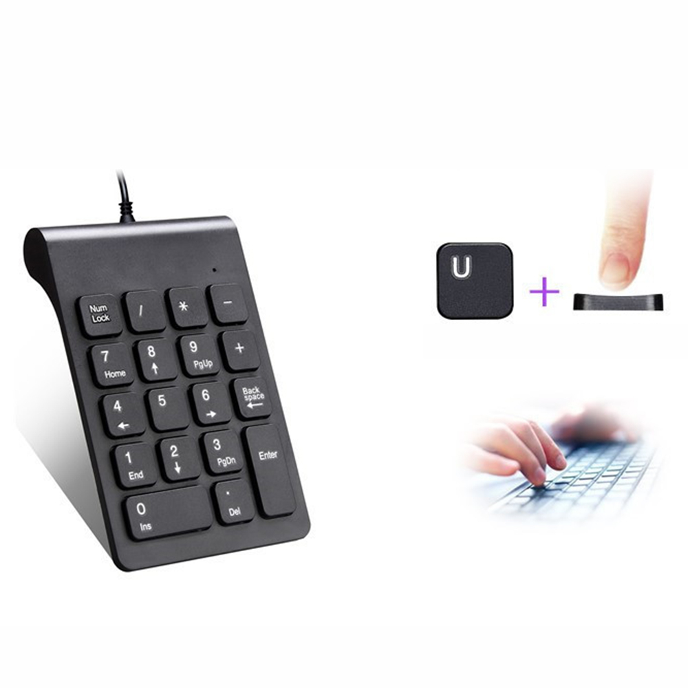 Keyboard Numeric Keypad Laptop Length-Cable Mini-Usb Wired for 18-Key