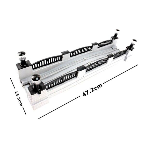 D500 ferrocarril eléctrico Thomas el tren de juguete dedicado pista escena accesorios (Música Electrónica puente) apto para Thomas BRIO coche de juguete
