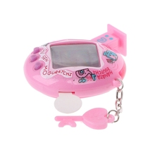 LCD Cyber Virtual Digital Pet Electronic Game Machine With Zipper Neck-Lanyard  for children and kids Christmas gifts J11 19