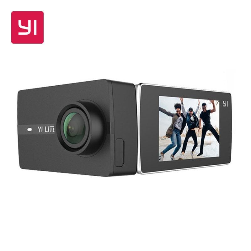 YI Lite D'action Caméra 16MP Réel 4 K Mini Sport Caméra avec WIFI Intégré 2 Pouces LCD Écran 150 Degrés grand Angle Lentille Noir