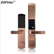 Цифровой Semicondu отпечатков пальцев Smart Lock отпечатков пальцев электронные замок двери автоматический для дома с пароль разблокировки карты