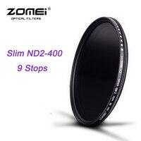ZOMEI ND Fader Glas Schlanke ND2-400 Neutral Density Verblassen Einstellbare Filter für DSLR Objektiv 49/52/55/58/62/67/72/77/82mm