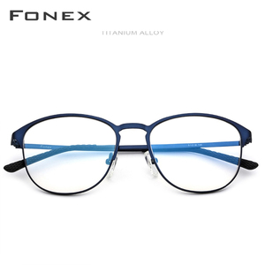 Image 2 - FONEX סגסוגת משקפיים מסגרת גברים מותג מעצב מרשם משקפיים מלא אופטי מסגרות משקפי 10012