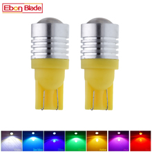 2X T10 194 168 W5W 5W5 Led Lamp Cob 3W Auto Interieur Licht Coche Voiture Auto Accessoires Wit Geel amber Rode Lamp Styling 12V