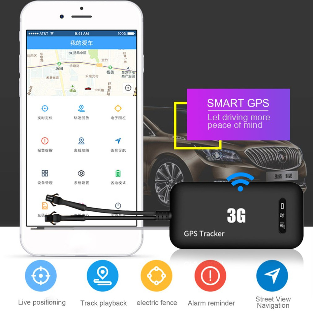 цена на Mini Size Car Styling GPS Tracker Wifi 3G WCDMA Practical Anti-Theft High Precision Real Time GPS Tracking Locator Device Black