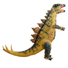 H&ZY Adult Inflatable Stegosaurus Dinosaur Blow Up Fancy Costume Christmas Cosplay T-REX Animal Jumpsuit Halloween Costume(China)