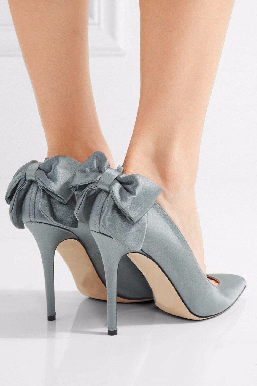 Cm Arco Hecha A De Parker Adornado Mano Corte Cke144 Nucille 10 Satén Moda Alto Zapatos Tacón Bombas 5q0HIq