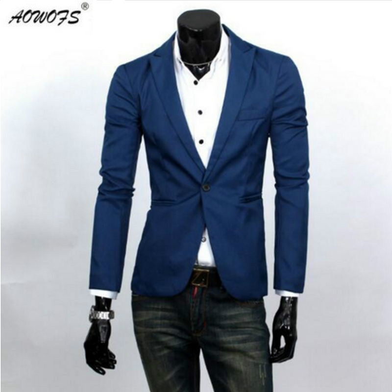 AOWOFS casual blazers man Stylish Slim jackets male dress