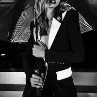 Ocstrade Summer Sexy Blazer 2019 New Fashion Elegant Black and White Plus Size Blazer for Women Blazers and Jackets