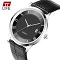 TTlife Reloj de Cuarzo Mujer Moda Delgado 7mm Relojes Negocio de Los Hombres Relojes de Primeras Marcas de Lujo de los hombres Reloj de Cuarzo Reloj de 2016 Nuevo marca