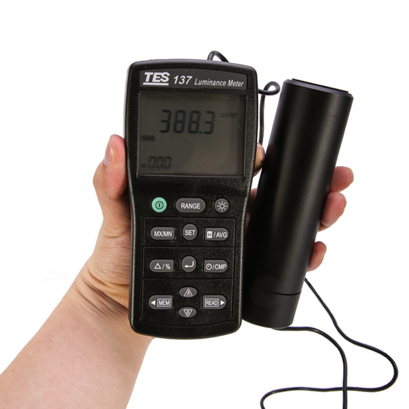 TES 137 Luminance Meter with Dual Display Original from TaiWan LCD Lightness Tester