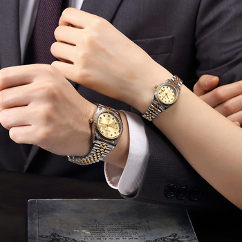 2psc Couples  Luxury Quartz Watch Set 1