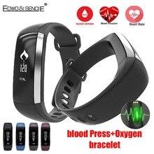 EDWO М2 Умный Браслет Bluetooth 4.0 Сердечного Ритма Артериального Давления Кислорода Здоровья Браслет Водонепроницаемый Smartband Фитнес TrackerWristband
