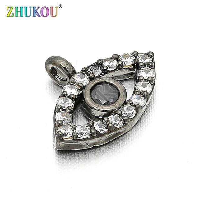 11*8 мм латунный кубический цирконий сглаза шармы Подвески DIY ювелирные изделия браслет ожерелье, Модель: VD85
