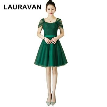 0a519ed4e Elegante vestido sexy corto de tul verde vestidos de fiesta para  adolescentes tamaño 8 vestido desfile vestidos correas bajo  50 vestido de  bola