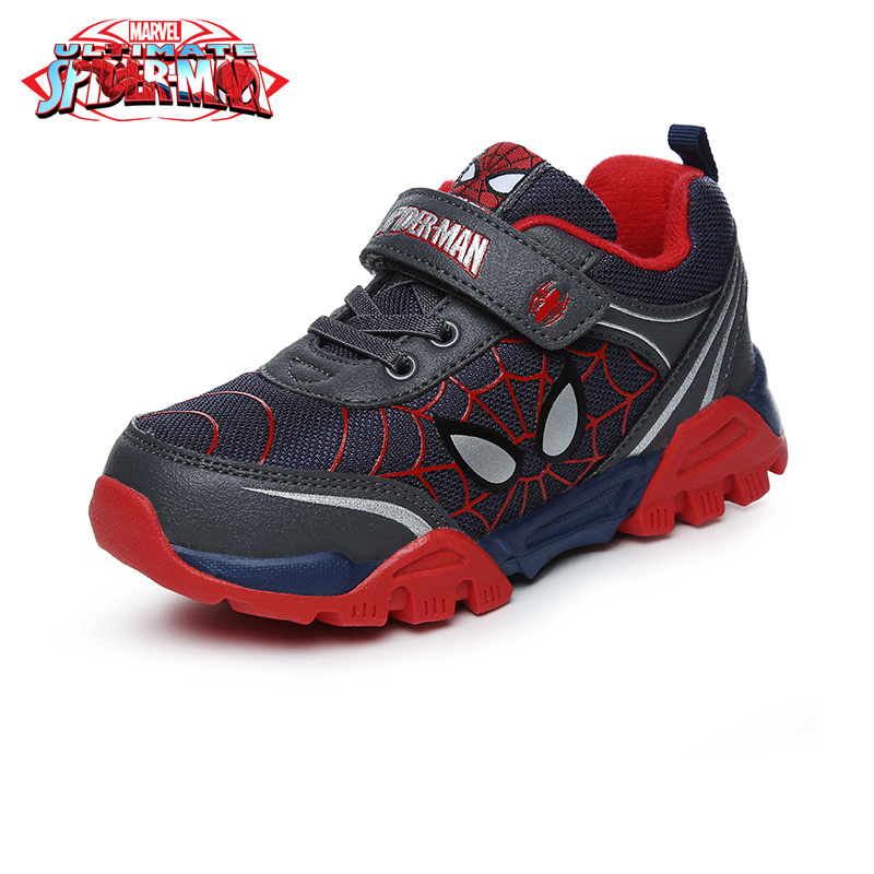 Disney Children's Rubber Sole Spider-Man Casual Shoes Sneakers Boy Leisure Trainers Breathable Kids Sport Shoes DS2590 dinoskulls new kids sport shoes children sneakers breathable leather boy running shoes 2018 girls leisure casual shoes