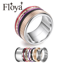 Cremo Gear Stainless Steel Rings For Women Meditation Wedding Band Ring Machinery Combination Interchangeable Fidget