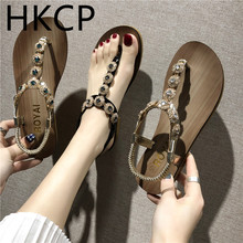 HKCP 2019 summer new female sandals south Korean version of water drill toe shoes casual flat beach C216