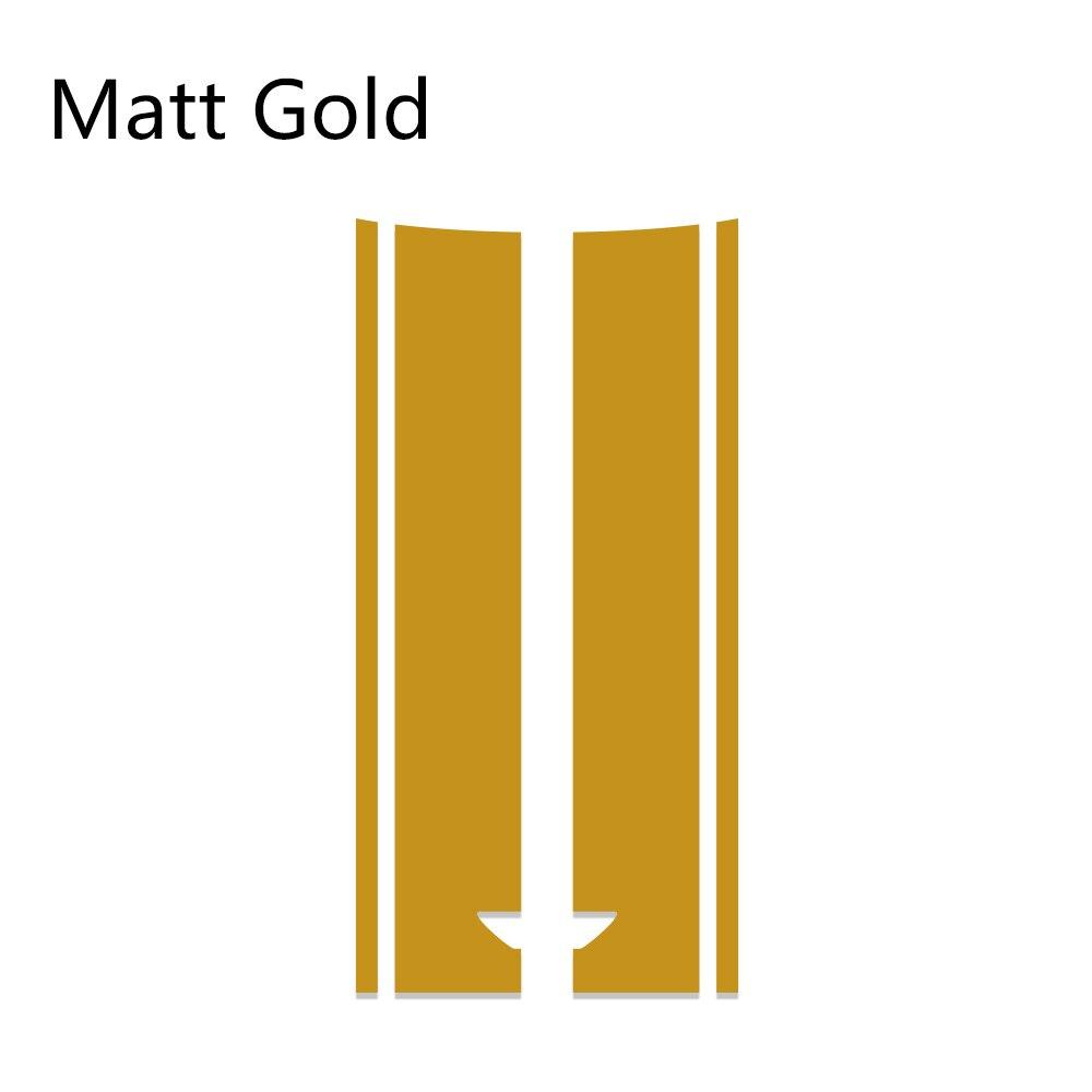 Автомобильный стиль, наклейка на голову, капот, наклейки в полоску для MINI Cooper S One, земляк, Clubman R55 R56 R60 R61 F54 F55 F56 F60, аксессуары - Название цвета: Matte Gold