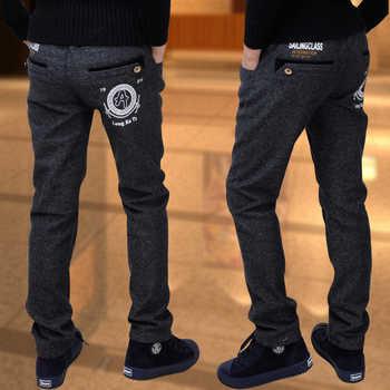 Boy trousers winter models big virgin stretch pants children casual pants boy pants plus thick velvet children Single / trousers - DISCOUNT ITEM  19% OFF All Category