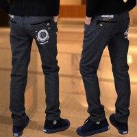 Boy Trousers Winter Models Big Virgin Stretch Pants Children Casual Pants Boy Pants Plus Thick Velvet