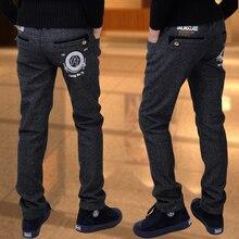 Pantalones elásticos de terciopelo grueso para niño, pantalón informal, grande, virgen, para invierno