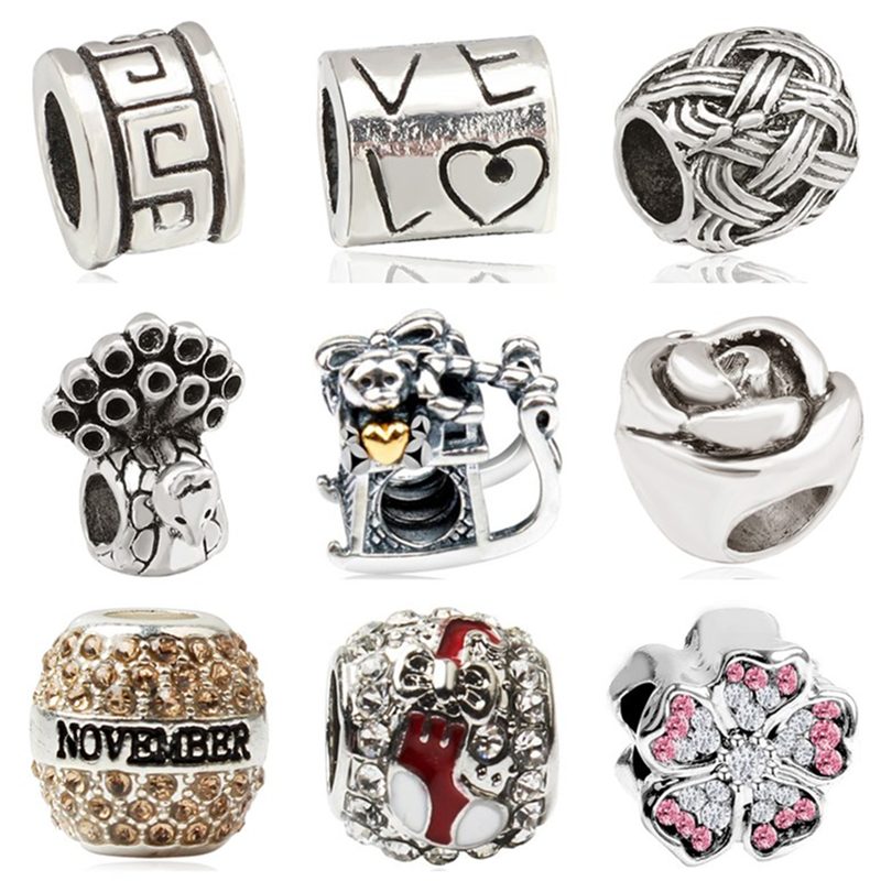 Jewelry & Accessories Btuamb Punk Style Carved Flower Handbag Firework Mickey & Minnie Cartoon Charm Beads Fit Pandora Original Bracelets Diy Jewelry Beads