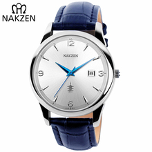 NAKZEN Reloj de pulsera clásico minimalista para hombre, de cuarzo, con fecha, deportivo, Masculino