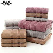 ROMORUS 100% Bamboo Fiber Towels Purple Gray Brown Bath Face Towel Set Cool Bamboo Absorbent Healthy Bathroom Towels for Adults очки spunky bamboo saturn brown