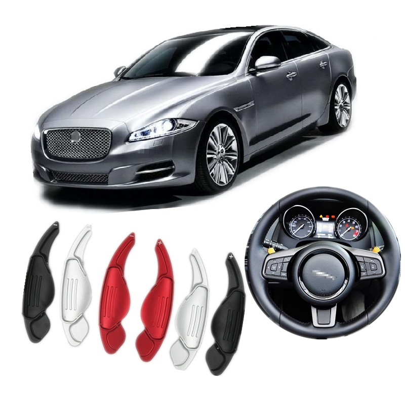 Steering Wheel Aluminum Extend Shift Paddle Suitalbe for Jaguar XF XJ XE XFL F-TYPE F-PACE Gear Shift Car Styling Accessories dsycar 1pair steering wheel shift paddle extension for land rover aurora freelander 2 discoverer range rover jaguar car styling