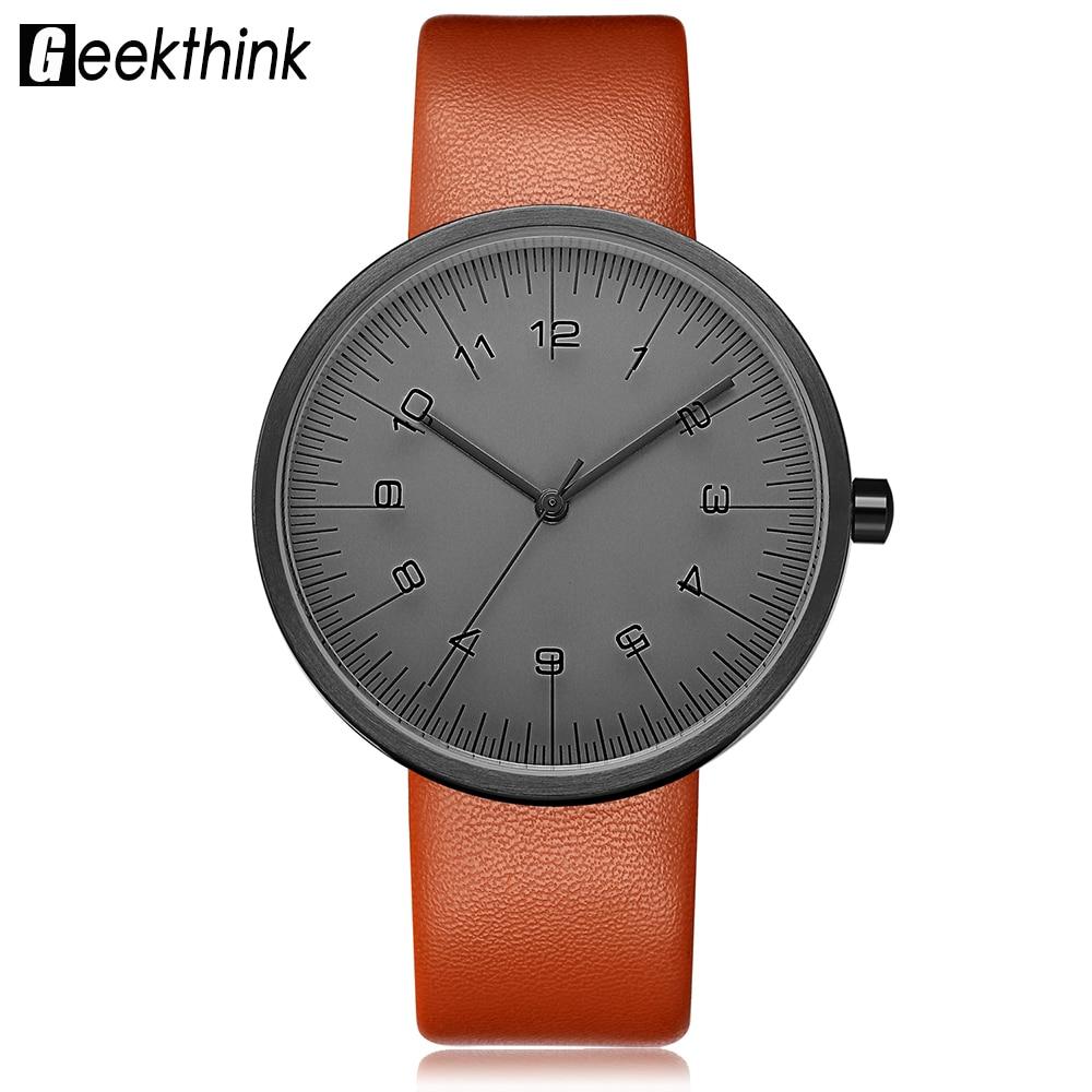GEEKTHINK Top Luxury Brand Quartz Watch Women Fashion Leather strap Casual Japan quartz-watch Classic Creative clock female top fashion leather strap quartz watch for women