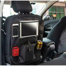 Bolsa colgante para asiento trasero de coche, organizador de almacenamiento de viaje para tableta, Ipad, bolsas de almacenamiento Interior, impermeables