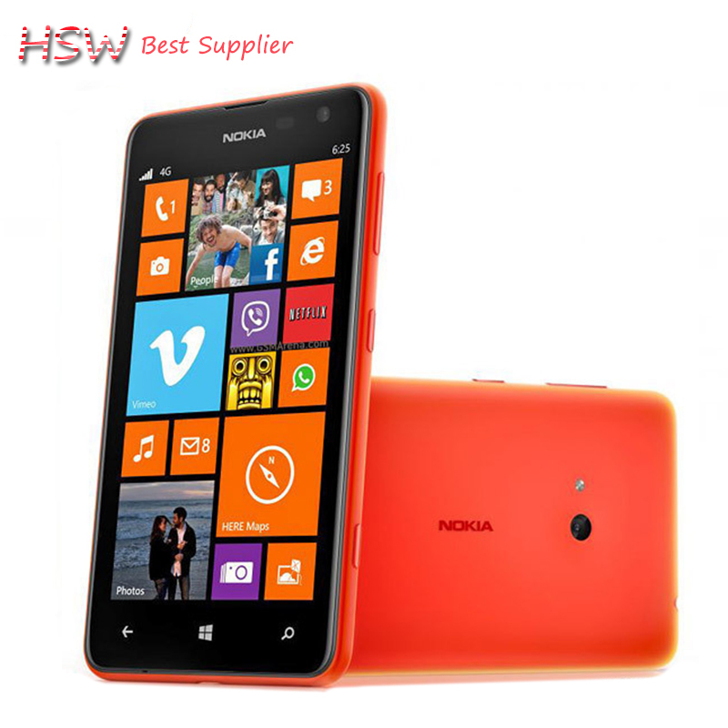 100% Original Unlocked Nokia Lumia 625 cell phone 4.7