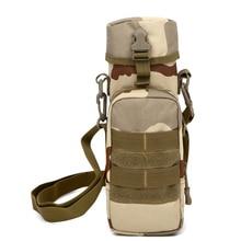 outdoor tactical sport accessories package 800ml shoulder water bottle packet Camouflage sport waterproof nylon messenger bags