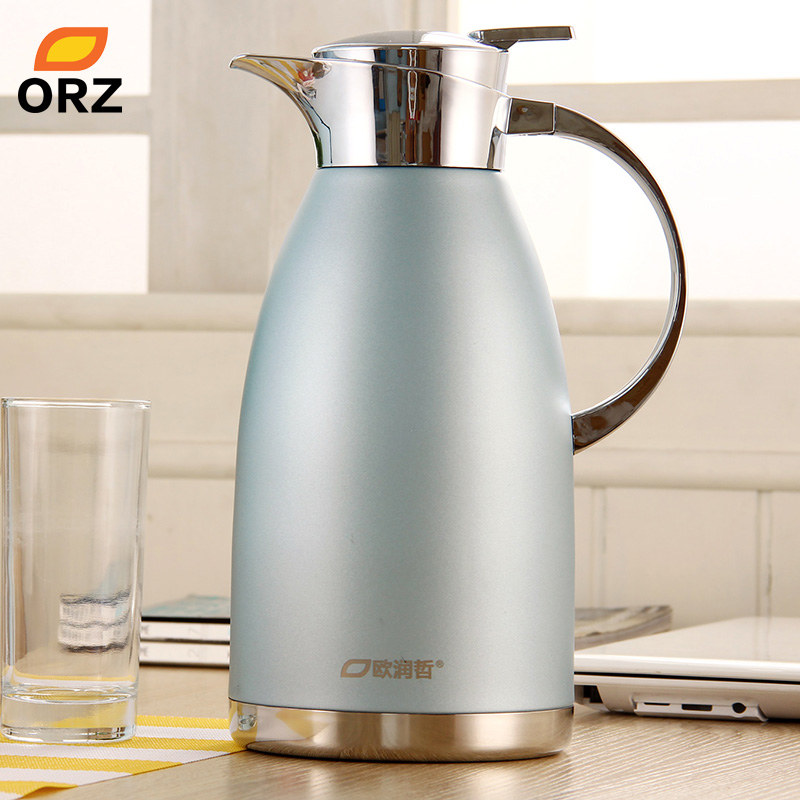 ORZ 2L Stainless Steel <font><b>Thermos</b></font> Water Coffee Tea Bottle Vacuum Flask Hot Water Bottle <font><b>Thermos</b></font> Flask