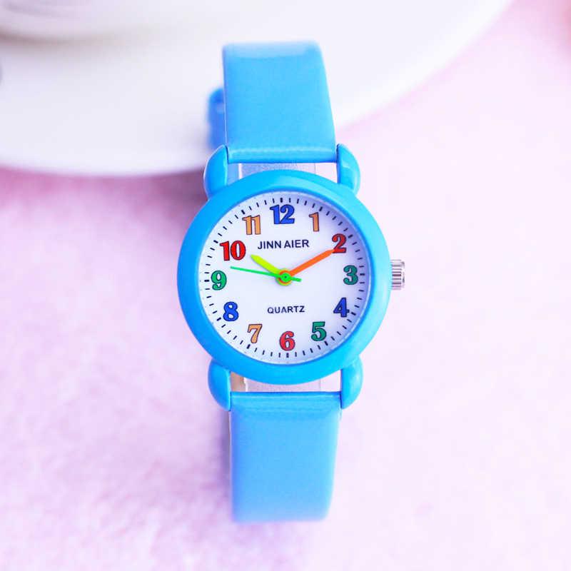 2019 ילדים בנות בני צבעוני דיגיטלי קוורץ עור שעונים ילדים קטנים חמוד אלקטרוני ספורט שעון שעונים montre enfant
