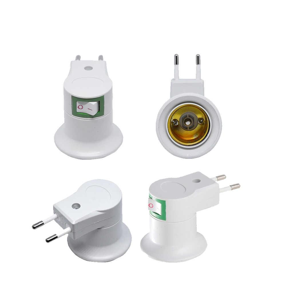 ON OFF E27 LED lamp Base Holder with Europe Bulb E27 Socket 5W Led Night Light