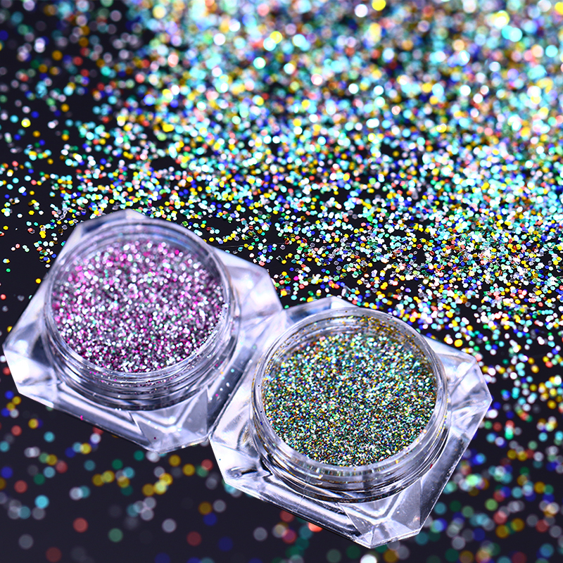 NICOLE DIARY Nail Glitter Mixed Color Super Shining Iridescent Flakies Nail Paillette Powder Manicure Decoration for Nail Art