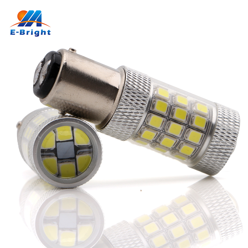 1pcs 2835 42 SMD Led 1157 BAY15D Bulb Car LED Light Stop Brake Backup Turn Tail Lamp White Amber Red 12V 24V Free Shipping cyan soil bay car auto t10 25w 30 led smd 4014 lamp parking reverse backup light w16w fog bulb ice blue red amber yellow white